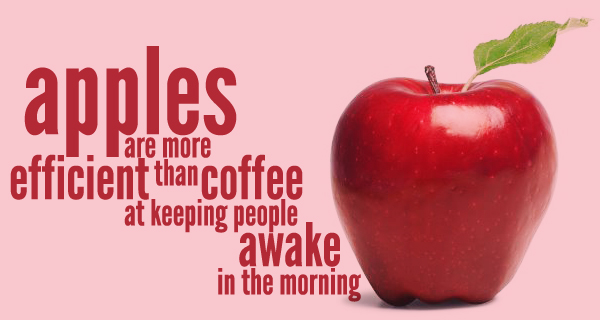 Apples more than coffee