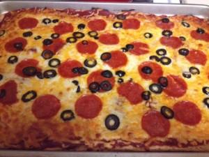 healthy homemade pizza