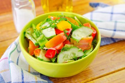 Summer Salad with Basil Dressing