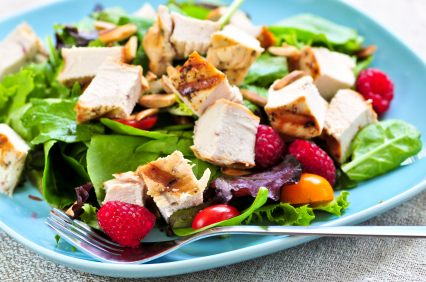 spinach salad with turkey