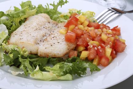 White Fish with Tomato Salsa