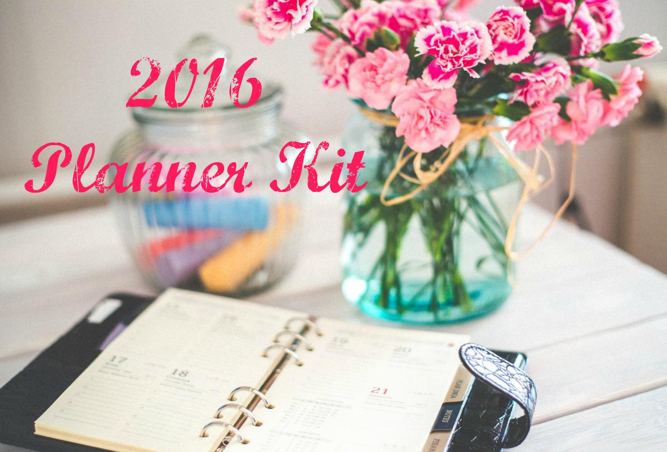 2016 Planner Kit