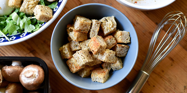 parmesan and herb croutons